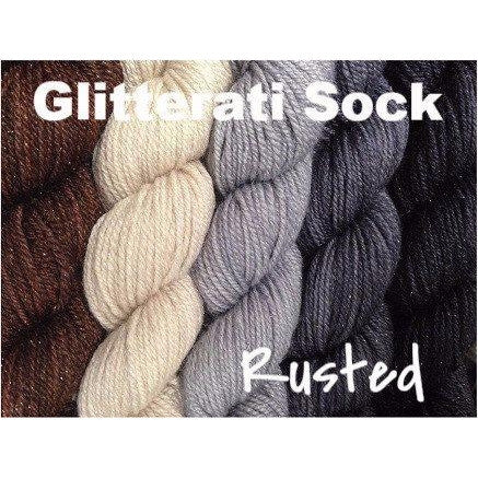 Sweet Georgia Yarns *LIMITED EDITION* Party of Five Mini-Skein Sets Glitterati Sock / Rusted - 6