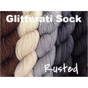 Sweet Georgia Yarns *LIMITED EDITION* Party of Five Mini-Skein Sets-Yarn-Glitterati Sock-Rusted-