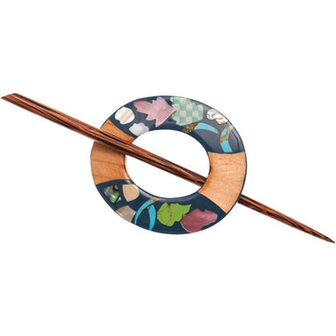 Paradise Inlaid Shell/Stone Shawl Pin-Accessories-Paradise Fibers
