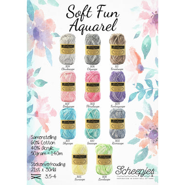 Paradise Fibers Yarn Scheepjes Soft Fun Aquarel  - 1