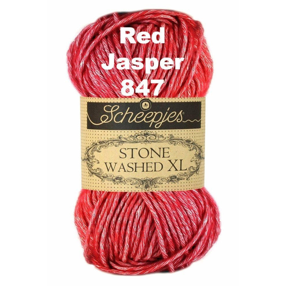 Scheepjes Stone Washed XL Yarn Red Jasper 847 - 23