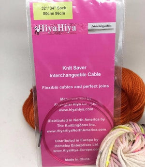 "HiyaHiya SOCK size Interchangeable Cables-Knitting Needles-24""-26""-"