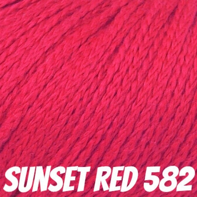 Rowan Softknit Cotton Yarn Sunset Red 582 - 11