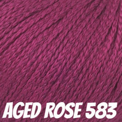 Rowan Softknit Cotton Yarn Aged Rose 583 - 12