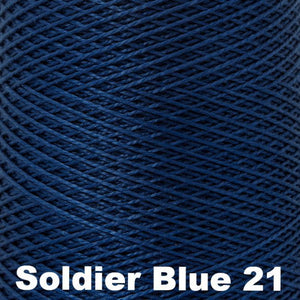 3/2 Mercerized Perle Cotton-Weaving Cones-Soldier Blue 21-