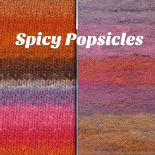Noro Rainbow Roll Scarf Kit Spicy Popsicles - 5