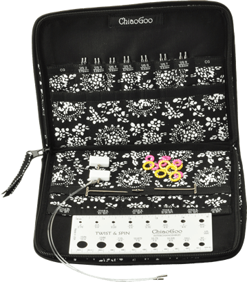 "Paradise Fibers Interchangeable Needle Set ChiaoGoo - SPIN 5"" (13cm) Interchangable Tip Set - Small Sizes  - 3"