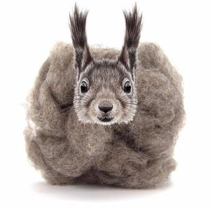 Paradise Fibers Carded Corriedale Wool Sliver - Woodland Creatures-Fiber-Squirrel-4oz-