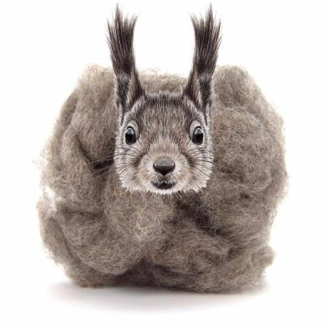 Paradise Fibers Carded Corriedale Wool Sliver - Woodland Creatures