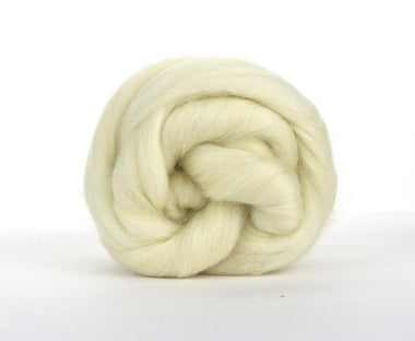 Paradise Fibers White Falkland Wool Top