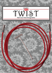TWIST Red Cables Small and Large size join for Interchangeable Needles by ChiaoGoo  - 1