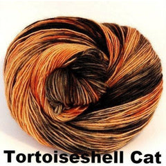 Paradise Fibers Yarn Ancient Arts DK Yarn - Meow Collection Tortoiseshell Cat - 20