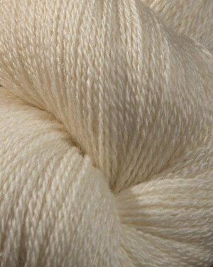 Jagger Spun Zephyr Wool-Silk Natural Yarn - Lace Weight 2/18-Yarn-100g Skein-Vanilla-