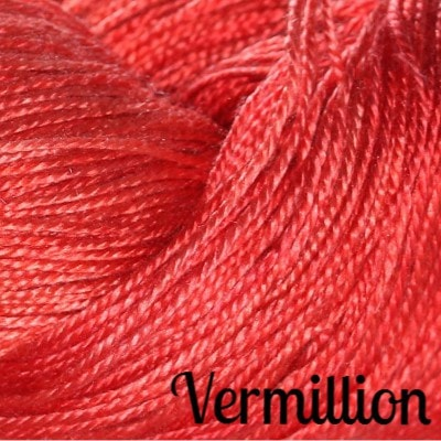 Hand Maiden Fine Yarns - Sea Silk Vermillion - 8