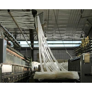 A behind the scenes look at Mountain Meadows Woollen Mill preparing Top Roving.