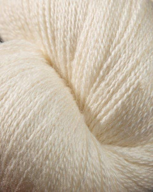 Jagger Spun Zephyr Wool-Silk Natural Yarn - Lace Weight 2/18-Yarn-100g Skein-White-