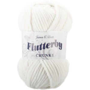 James C. Brett Flutterby Chunky Yarn-Yarn-White 01-