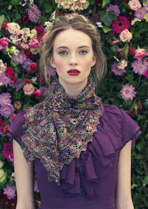 Louisa Harding Albertine Shawl Pattern-Patterns-