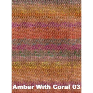 Noro Shinryoku Yarn-Yarn-Amber With Coral 03-