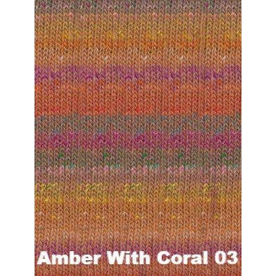 Noro Shinryoku Yarn Amber With Coral 03 - 4