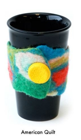 Artfelt Coffee Cozy/ Cuff Felting Kit American Quilt - 2