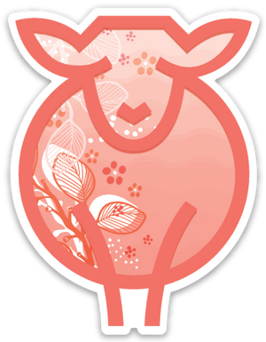 Paradise Fibers Sheep Stickers-Stickers-Living Coral Ewe-