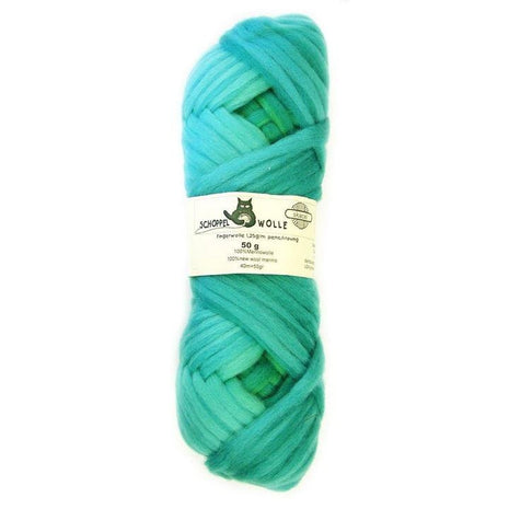 Artfelt Multi Colored Merino Pencil Rovings Aqua Greens 1878 - 10