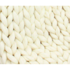 Soft Undyed Merino Jumbo Yarn- 7lb Special for Arm Knitted Blankets-Fiber-