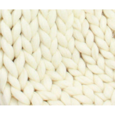 Soft Undyed Merino Roving- 7lb Special for Knitted Blankets  - 1