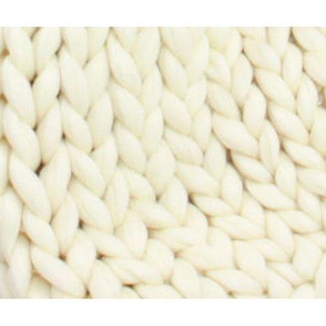 Paradise Fibers Fiber Soft Undyed Superwash Merino Roving- 7lb Special for Knitted Blankets  - 1