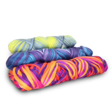 Artfelt Multi Colored Merino Pencil Rovings-Fiber-Paradise Fibers