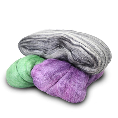 Artfelt In Silk Solid Colored Merino/Silk Standard Rovings