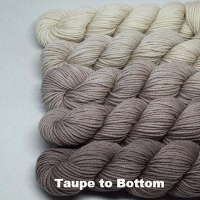 ArtYarns Zara Transitions Yarn Kit Taupe to Bottom - 4