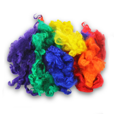 Ashford Rainbow Dyed English Leicester Fleece Locks-Fiber-Paradise Fibers