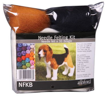 Ashford Needle Felting Kit - Beagle-Felting-Paradise Fibers