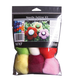 Ashford Needle Felting Kit - Flowers-Felting-Paradise Fibers