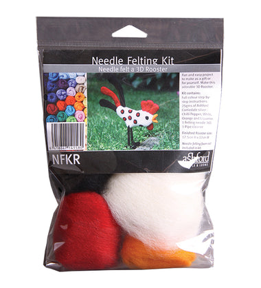 Ashford Needle Felting Kit - Rooster-Felting-Paradise Fibers