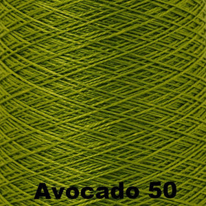 3/2 Mercerized Perle Cotton-Weaving Cones-Avocado 50-