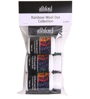 Paradise Fibers Dye Ashford Acid Dye Rainbow Collection 3x 50g - 3