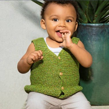 Baby Vest Kit in Reflet Yarn-Kits-Paradise Fibers