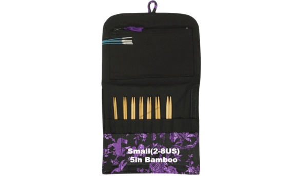 HiyaHiya Bamboo Interchangeable Knitting Needle Set Small (2-8US) / 5 inch tip - 3