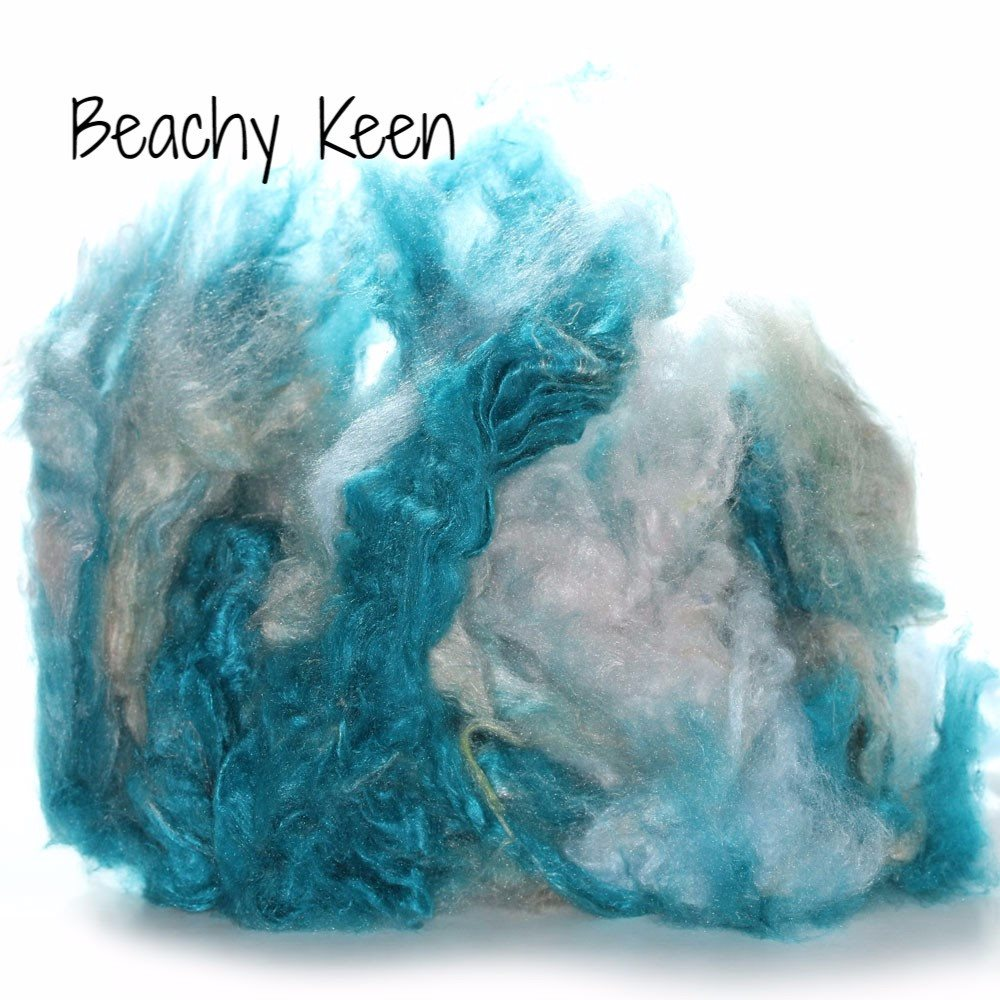 Camaj Hand Dyed Mulberry Silk Cloud- Soffsilk® Beachy Keen / 1oz - 3
