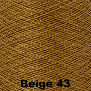 3/2 Mercerized Perle Cotton-Weaving Cones-Beige 43-