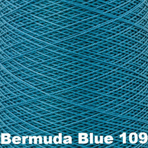 3/2 Mercerized Perle Cotton-Weaving Cones-Bermuda Blue 109-