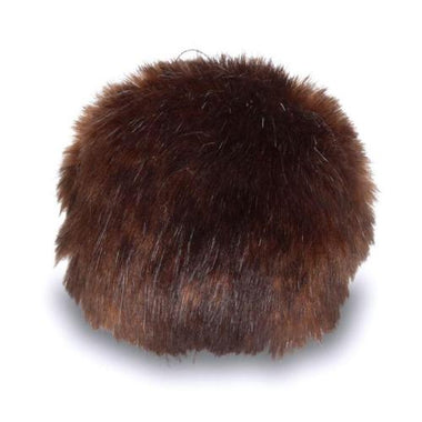 "Bernat Faux Fur Pom Pom 3"" - Brown Muskrat-Accessories-Paradise Fibers"