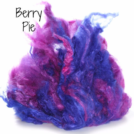 Camaj Hand Dyed Mulberry Silk Cloud- Soffsilk® Berry Pie / 1oz - 4