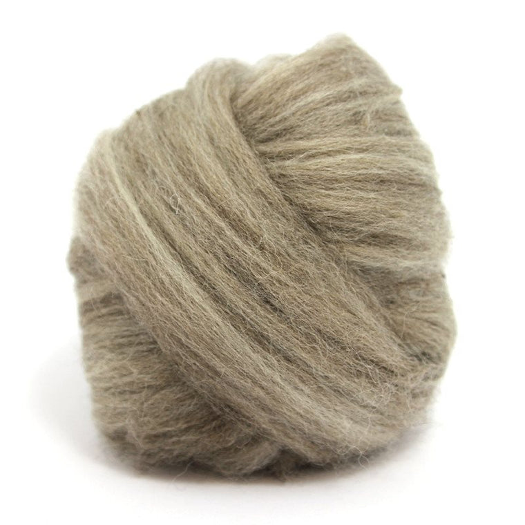 Paradise Fibers Blue Faced Leicester Roving 4oz / Oatmeal - 1