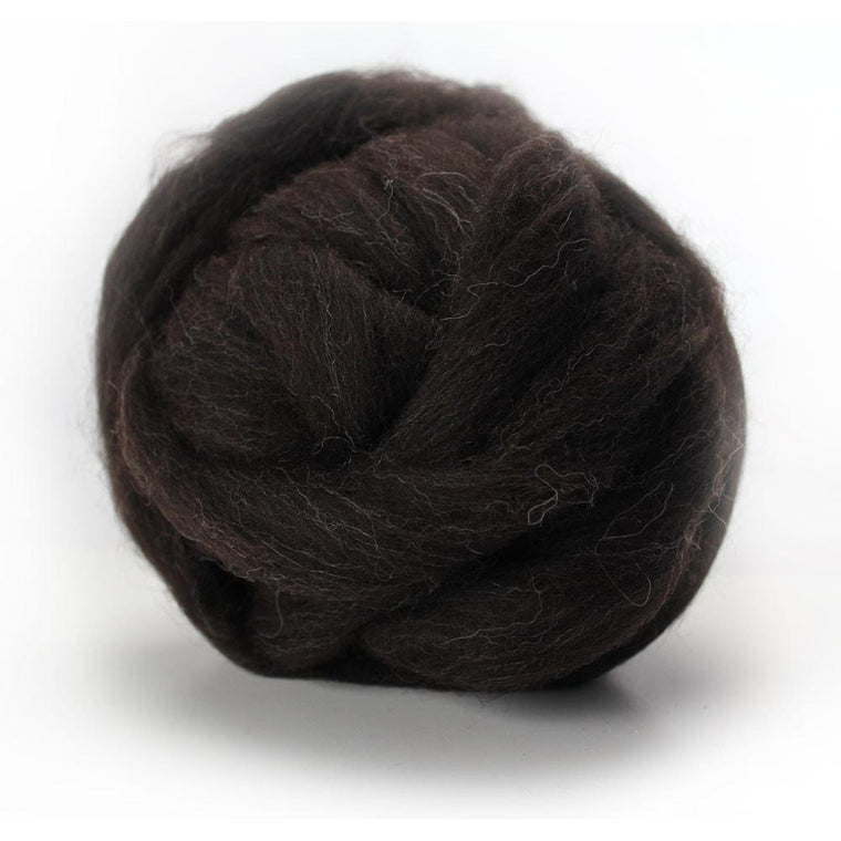 Louet Black Jacob Wool Top (1/2 lb bag)