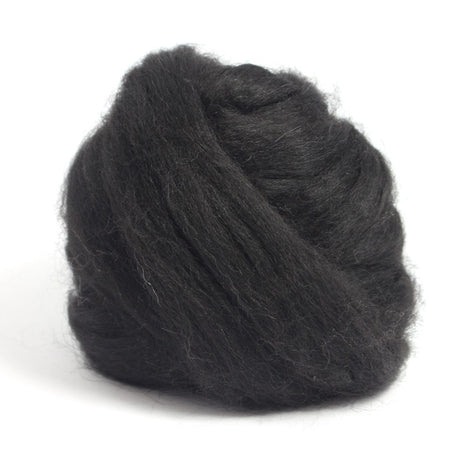 Paradise Fibers Baby Alpaca Roving Black / 4oz - 2