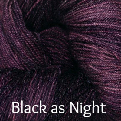 Paradise Fibers Yarn Palouse Yarn Company Cashmere Squeeze Black as Night - 5